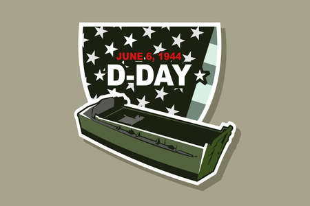 June 6, 1944. D-day, Normandy Landing vector illustration. Suitable for greeting card, poster and banner