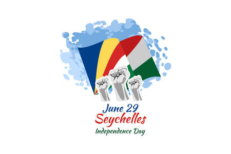 June 29, Seychelles Independence Day vector illustration. Suitable for greeting card, poster and banner.