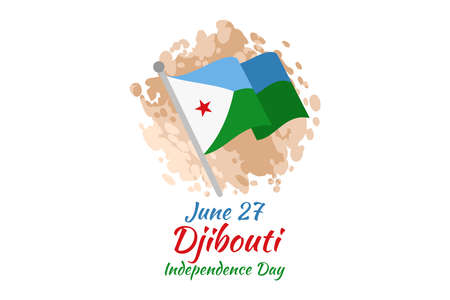 June 27 Independence Day of Djibouti vector illustration. Suitable for greeting card, poster and banner. 向量圖像