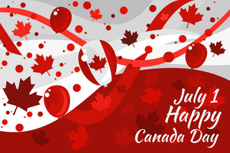 July 1, Happy Canada Day Vector Illustration. Suitable for greeting card, poster and banner.