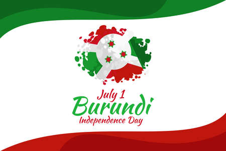 July 1, Independence Day of Burundi vector illustration. Suitable for greeting card, poster and banner.