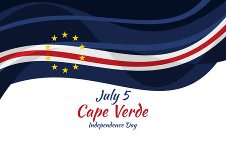 July 5, Cape verde Independence day vector illustration. Suitable for greeting card, poster and banner