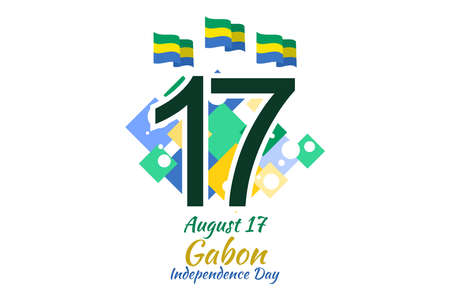 August 11, Independence Day of Gabon vector illustration. Suitable for greeting card, poster and banner.