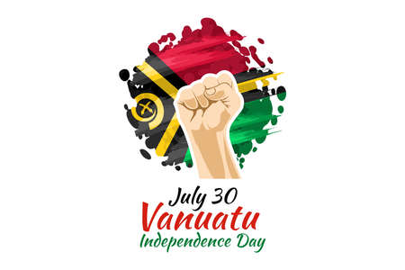 July 30, Independence day of Vanuatu vector illustration. Suitable for greeting card, poster and banner. 向量圖像