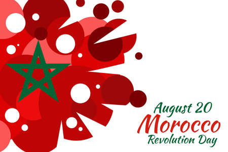 August 20. Revolution Day of Morocco vector illustration. Suitable for greeting card, poster and banner. 向量圖像