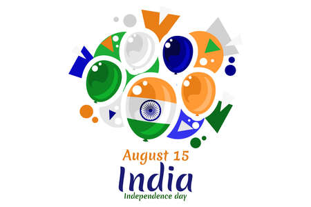 August 15, Independence day of India vector illustration. Suitable for greeting card, poster and banner.