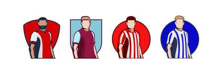 English Football club jersey 2021. Icon football jersey vector illustration.