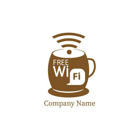 Coffe template design in Vector illustration.coffe template