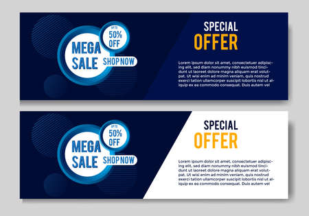 banner with modern design colorful gradient.banner sale template