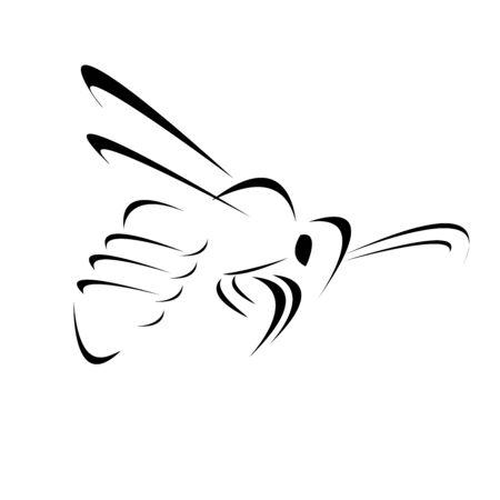 Bees vector logo creative design