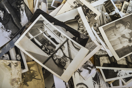 black ancestry: Derelict old photographs being sold at an antique shop in Istanbul, indifferent memories.