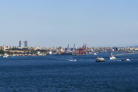 ferries: Istanbul, Turkey - September 9, 2012: Icon is one of the ferries in Istanbul.