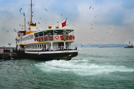 december 21: Istanbul, Turkey - December 21, 2012: Icon is one of the ferries in Istanbul.