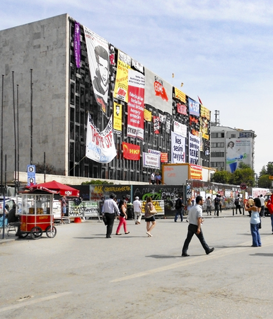 fawkes: Istanbul, Turkey - June 5, 2013: It has started action against the construction of a shopping center instead of cutting trees in Gezi Park in Istanbul. A large portion of Turkey It spreads. A wave of demonstrations and civil unrest in Turkey began on 28 M