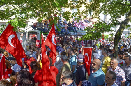 fawkes: Istanbul, Turkey - June 9, 2013:  Gezi Park protests. Damaged public bus being used as barricade.  A wave of demonstrations and civil unrest in Turkey began on 28 May 2013, initially to contest the urban development plan for Istanbuls Taksim Gezi Park. T