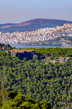 clergy: Istanbul, Turkey - Buyukada orphanage in the forest ancient Greek, clergy school.greek orphanage on Buyukada, Buyukada, the Monastery Hill. By a French company building was built between 1898-1899 as one of the worlds largest to wooden building.