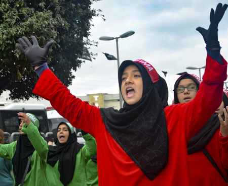 martyrdom: Istanbul, Turkey - November 3, 2014: Universal Ashura Mourning Ceremony. Ashura. Universal Day of Ashura Mourne Ceremonyâ was held in Istanbul to commemorate the martyrdom of Husain ibn Ali, the grandson of the Prophet Muhammad and his 71 friends. Editorial