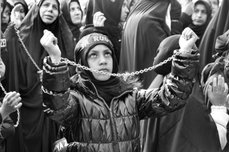 martyrdom: Istanbul, Turkey - November 3, 2014: Universal Ashura Mourning Ceremony. Day of Ashura. A Universal Ashura Mourn Ceremony, was held in Istanbul to commemorate the martyrdom of Husain ibn Ali, the grandson of the Prophet Muhammad and his 71 friends. Editorial