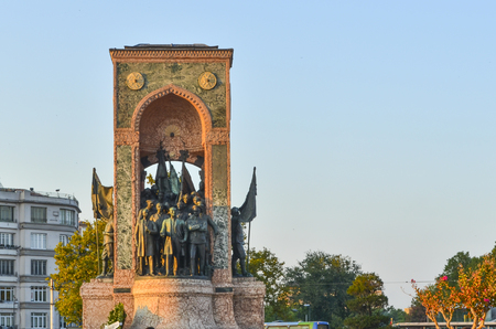 notable: Istanbul, Turkey. The Republic Monument (Turkish: Cumhuriyet Aniti) is a notable monument located at Taksim Square in Istanbul, Turkey to commemorate the formation of the Turkish Republic in 1923. Built in two and half years with financial support from th