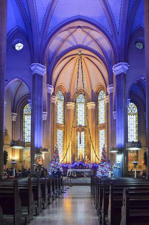 largest: Istanbul, Turkey - December 29, 2013: St. Antoine Catholic Church Istanbuls largest and the community is the largest Catholic Church. located on Istiklal Caddesi in Beyoglu.