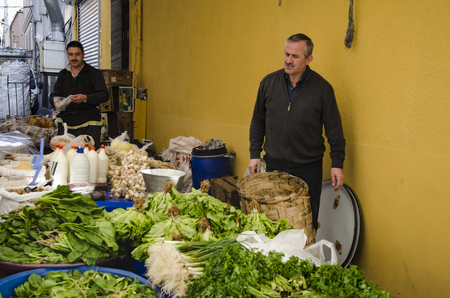 compared: Istanbul, Turkey - March 31, 2013: Istanbul, Balat. Inebolu (Kastamonu) district bazaar. When compared to other pazar (markets), Kastamonu can seem a little challenging. Like others, this market sets up shop on a small street once a week, every Sunday in  Editorial