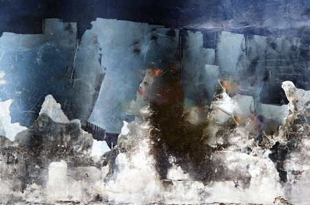 Old weathered painted wall background. Paint spilled, abstract visuals.