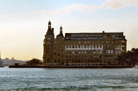 Istanbul, Turkey - January 1, 2011:  Istanbul Haydarpasa Terminal or Haydarpasa Terminus (Turkish: Haydarpasa Gari) is a railway terminal in Istanbul. Until 2012 the station was a major intercity, regional and commuter rail hub as well as the busiest rail