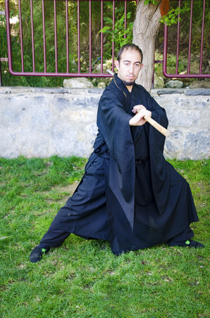 Istanbul, Turkey - Mayer 29, 2016: Kadikoy on the beach Asia Day 2 was named cosplay day activity. Participants dressed as anime characters cosplay indicated they did. Shaolin Monk costume cosplay Participants in the photo.