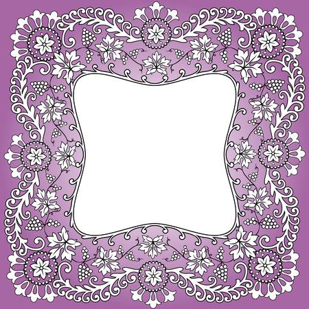 Bufanda púrpura patrón de diseño de racimo de uvas Foto de archivo - 37193936
