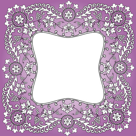 purple scarf pattern design bunch of grapes