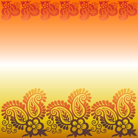 테두리가있는 페이즐리 무늬 꽃