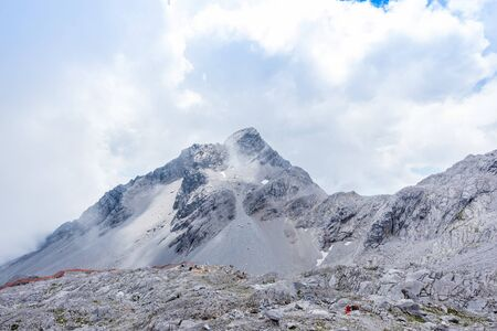 Yunnan Lijiang Yulong Snow Mountain Stock Photo