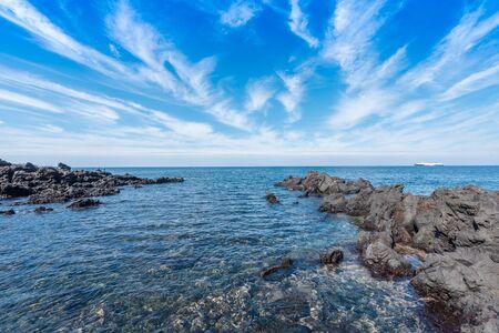 South Korea's Jeju Island seaside scenery