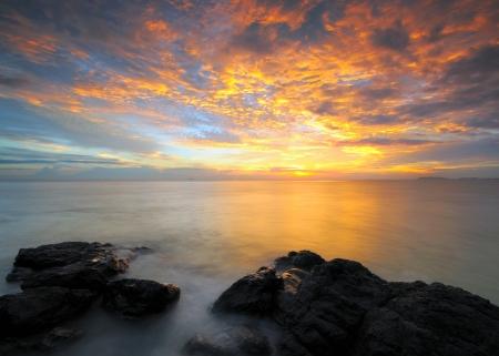 wheather: Beautiful Sunset At Malacca, Malaysia.