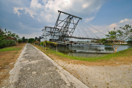 dredger: Abandoned Dredger At Perak, Malaysia. Right Side View.