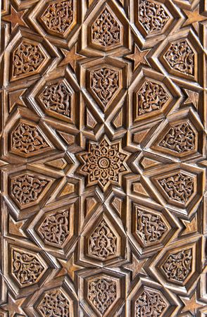 islamic art: Wooden islamic pattern Stock Photo