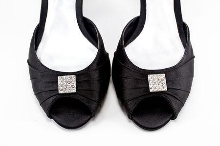 Black women shoe isolated on white background Stock Photo - 8011236
