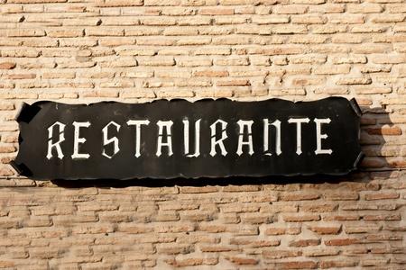 Spanish restaurant sign photo