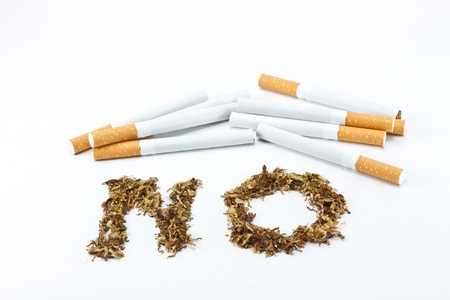No smoking sign with tobacco Stock Photo - 8345233