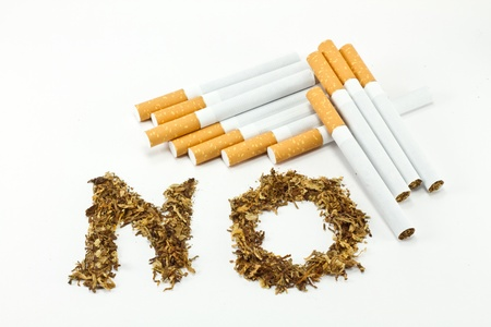 No smoking sign with tobacco Stock Photo - 8345191