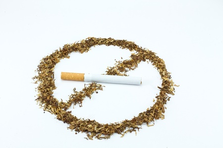 No smoking sign with tobacco Stock Photo - 8345237