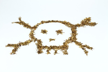 Skull made of tobacco and cigaratte Stock Photo - 8345231