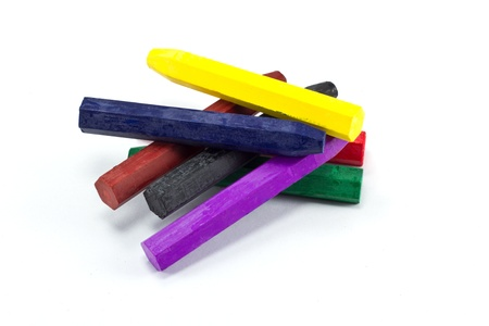Oil Pastel Crayons on a white paper Stock Photo - 8417320