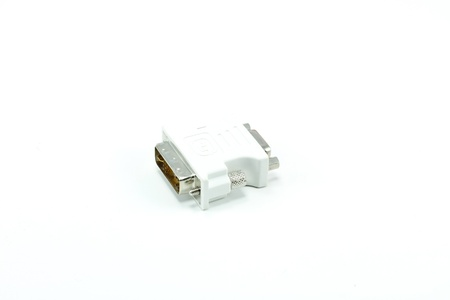 tech adapter isolated on a white background. Stock Photo - 8417349