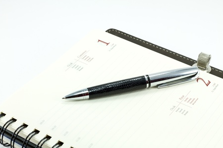 personal organizer with pen Stock Photo - 8454373