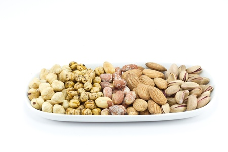A variety of fresh mixed nuts photo