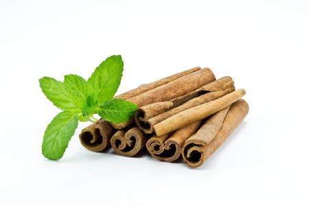 Cinnamon Sticks Isolated on White Stock Photo - 8605171