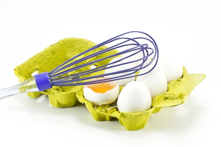 stiring: Egg box and egg beater