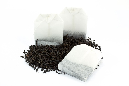 decaffeinated: Tea bags and dried tea leaves