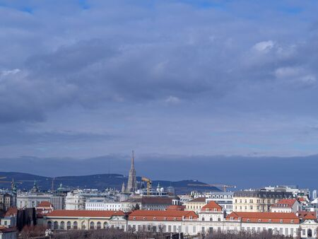 This is a panorama of Vienna. Stockfoto